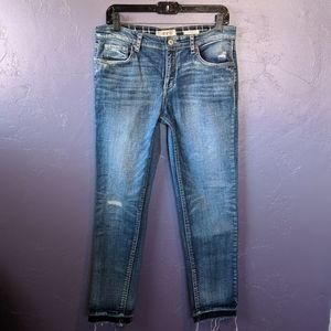 Vintage America Blues ✨ raw hem jeans ✨ sz 8/29